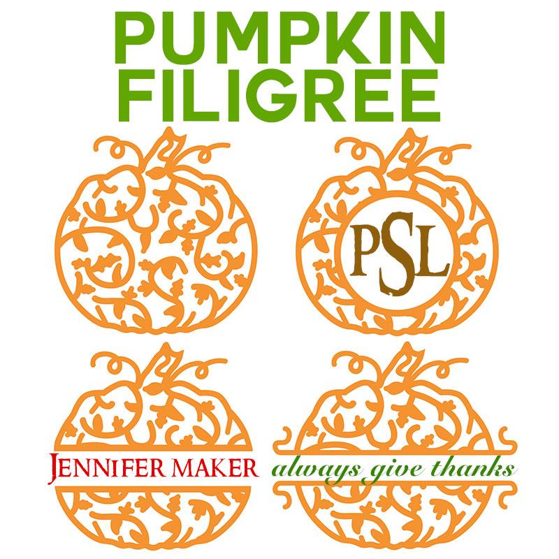 Pumpkin Filigree Design For Names And Monograms Jennifer Maker