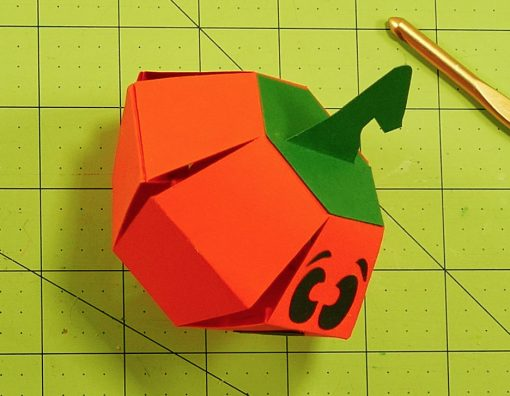 Pumpkin Paper Bomb with a rubber band inside