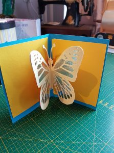 Butterfly card by Monique van Corstanje