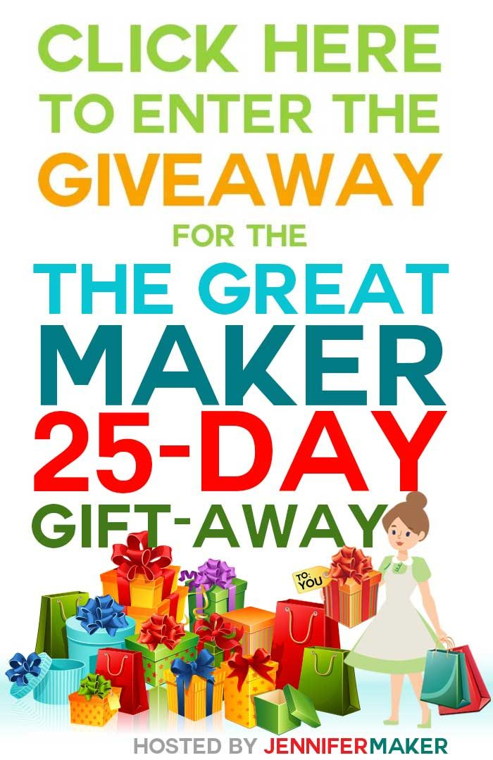 The Great Maker 25-Day Gift-Away by JenniferMaker