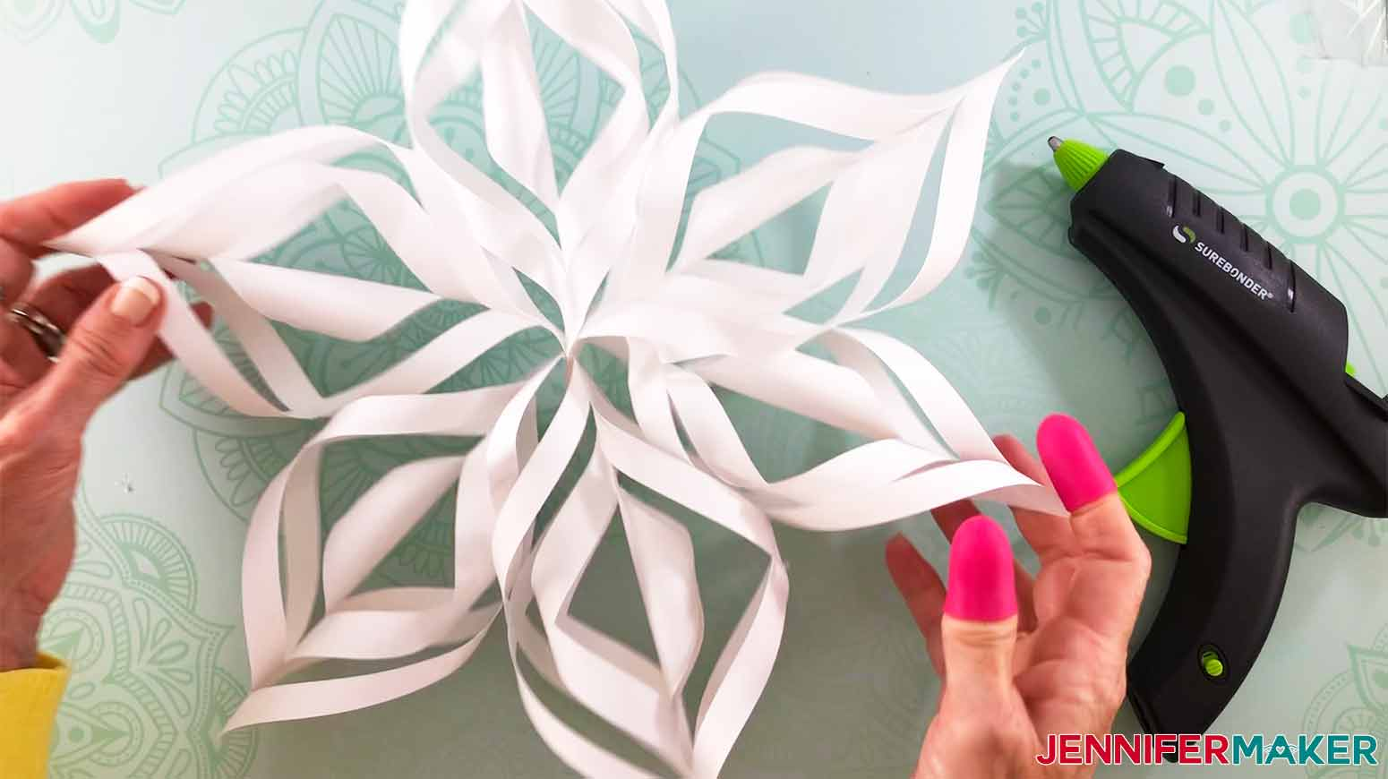 snowflake assembly completed for my 3D Snowflake