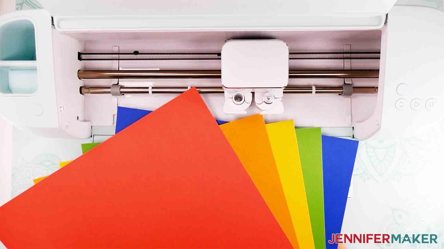rainbow color Cricut Smart paper Sticker Cardstock