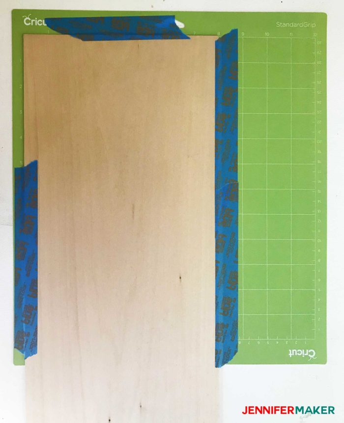 Tape the basswood to the mat with painter's tape before you cut out the 3d family tree