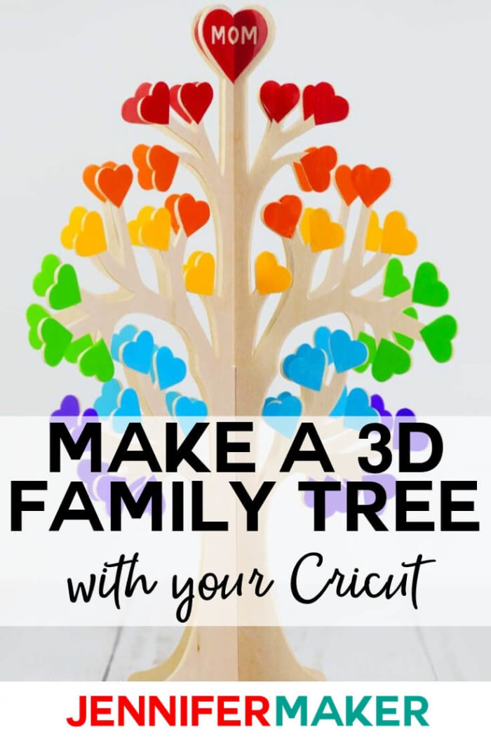 Learn how to make a 3D family tree from paper or wood. This project is complete with free patterns, cut files, and a tutorial.  #cricut #cricutmade #cricutmaker #cricutexplore #svg #svgfile