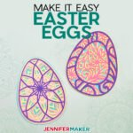 Make 3D Layered Easter Eggs in Mandala and Filigree Styles with free SVG cut files for the Cricut or SIlhouette