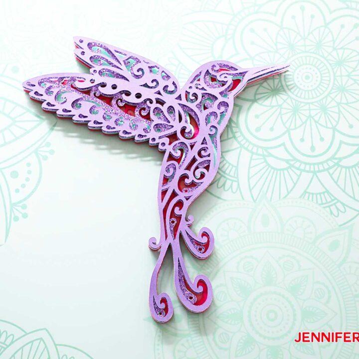 Hummingbird SVG for 3D Layered Design
