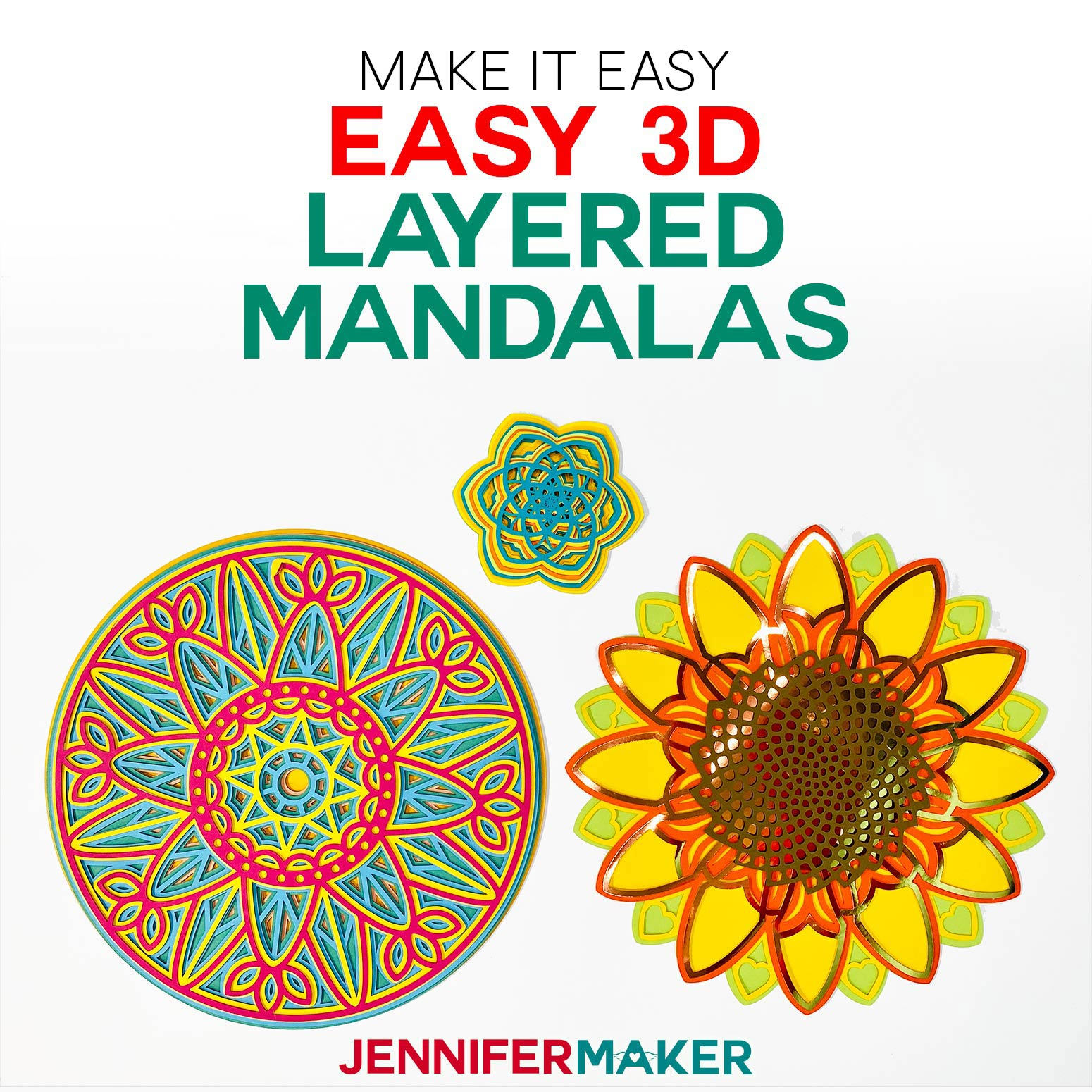Easy 3D Layered Mandala - Free Designs and SVG Cut Files for Cricut