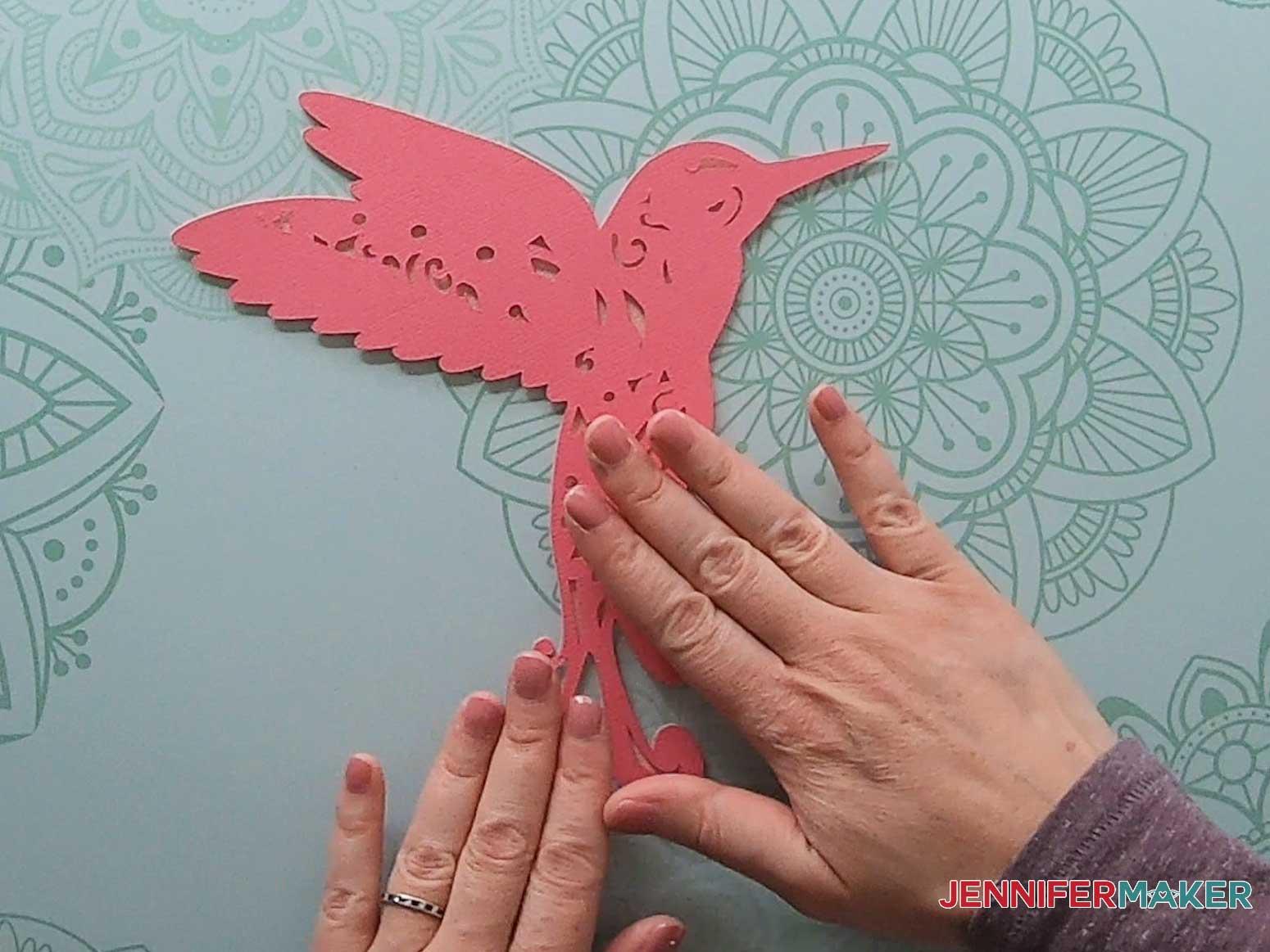 3d layered mandala hummingbird layer four placement