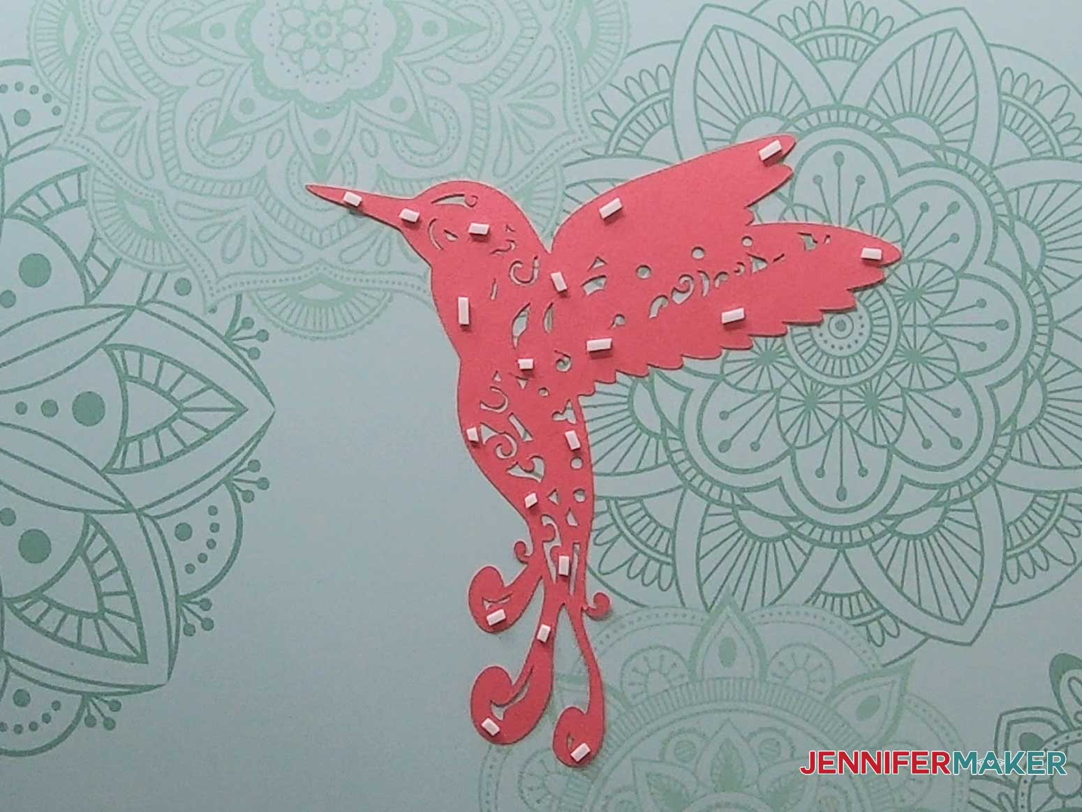 3d layered mandala hummingbird layer four tape