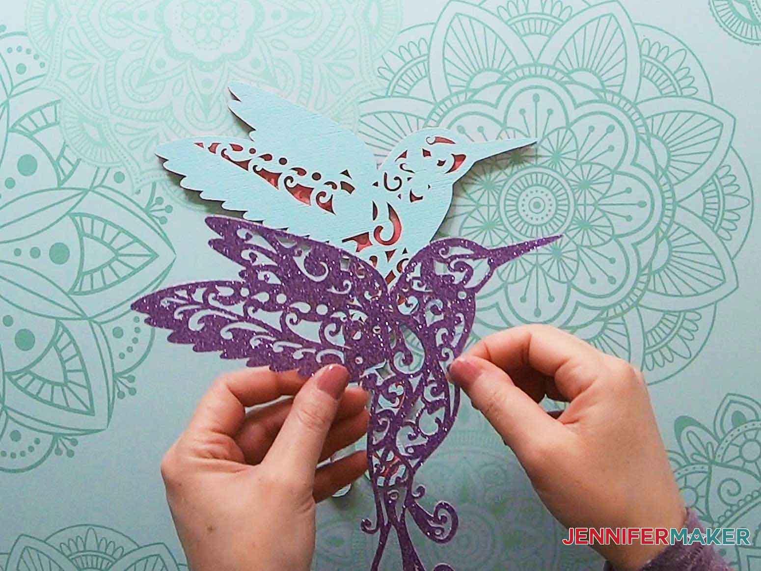 3d layered mandala hummingbird layer two placement