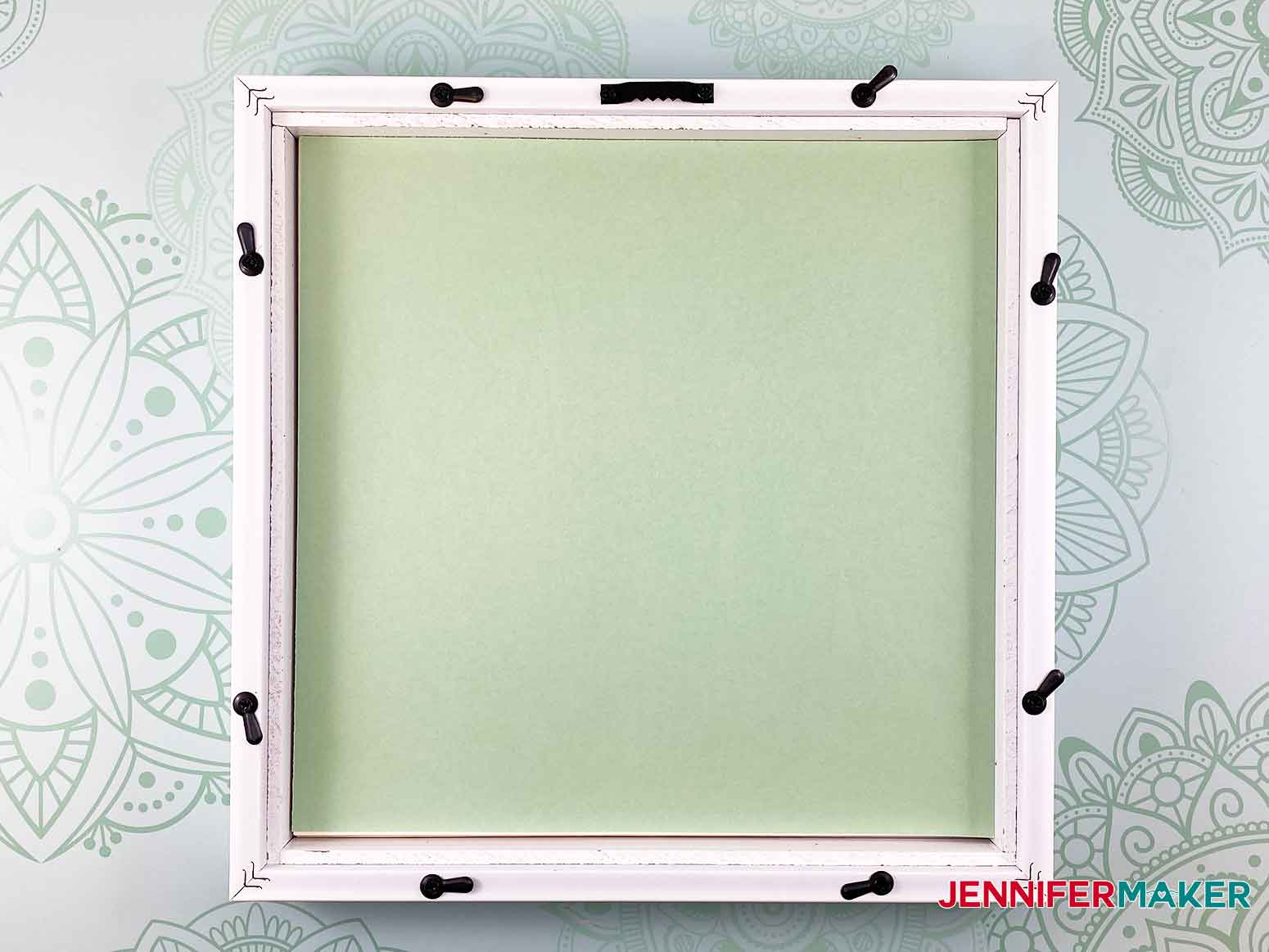 Add a contrast piece of cardstock into the frame for my 3D layered paper cut art flower