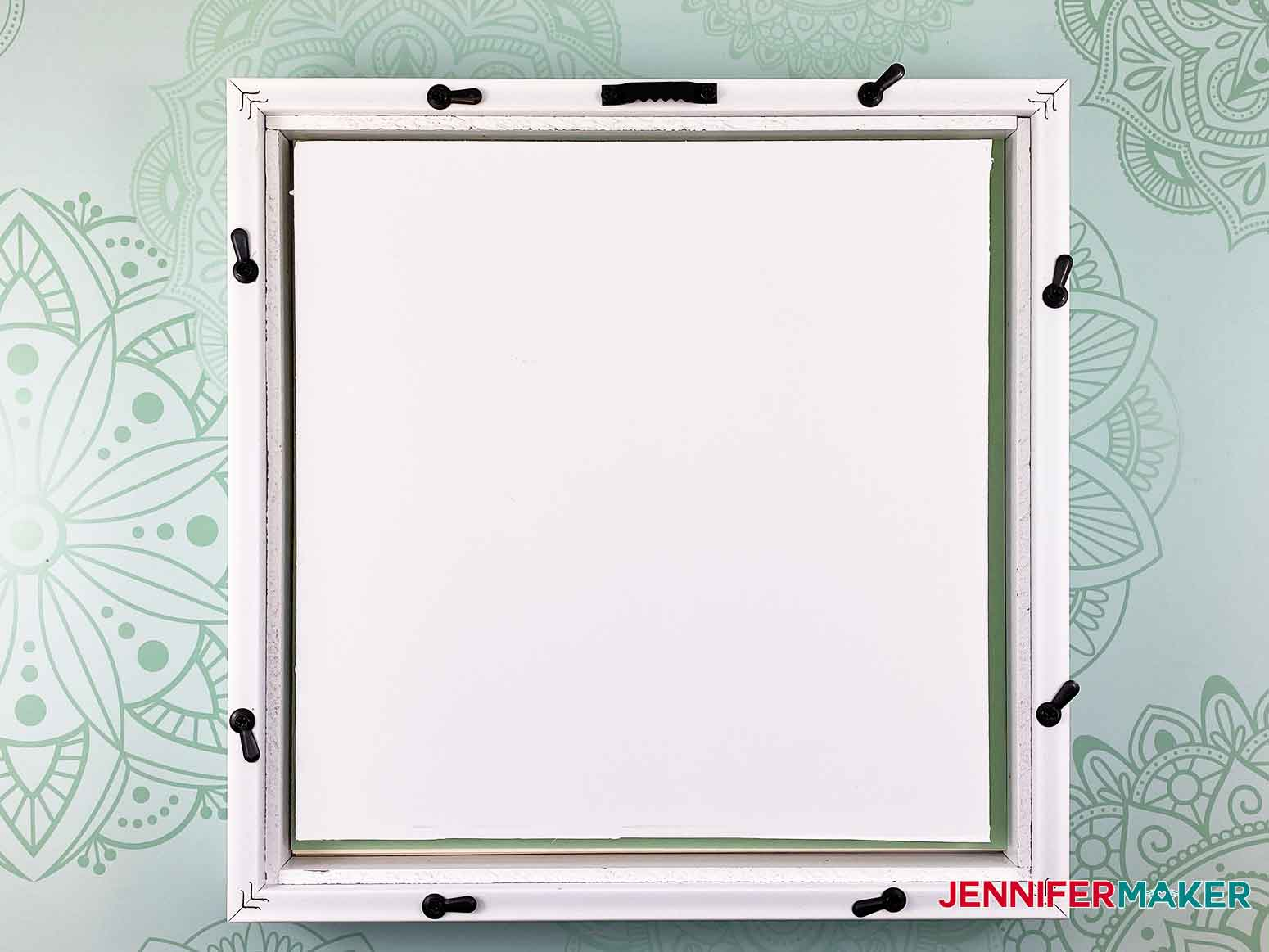 Add foam core to fill up the empty space in the frame for the 3D layered paper cut art flower