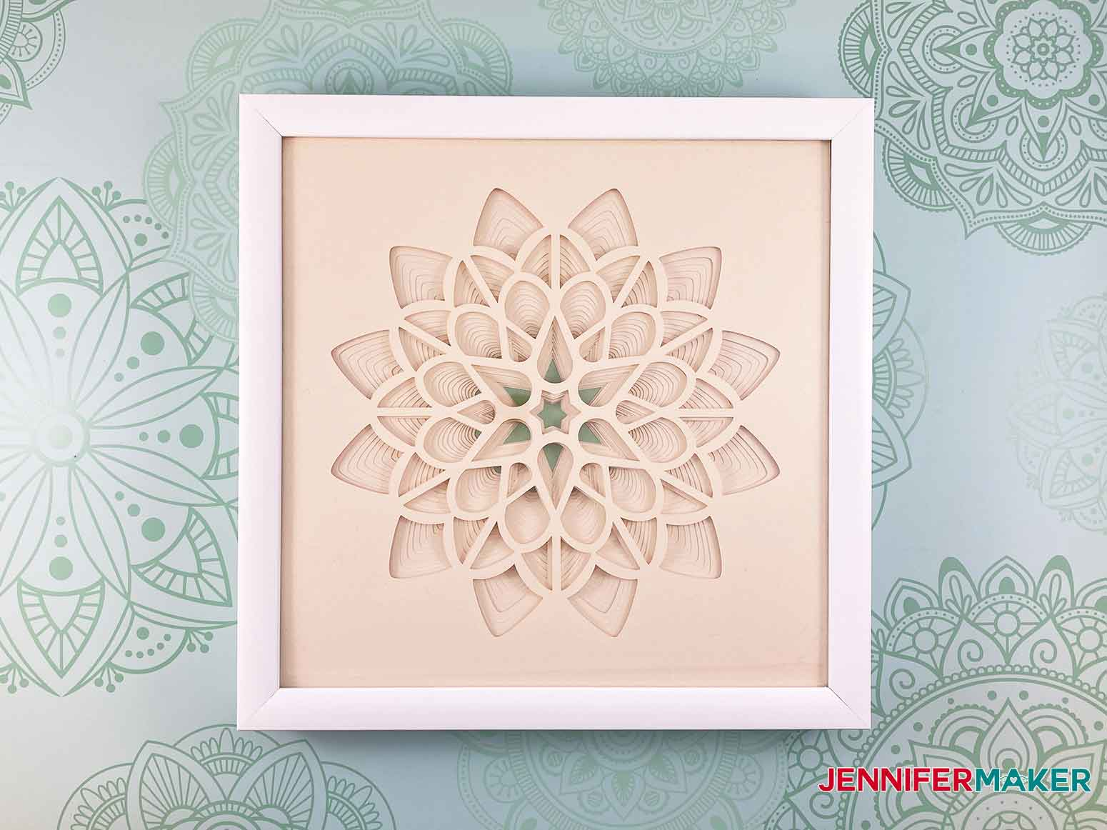 This is what my assembled 3D paper cut art flower looks like