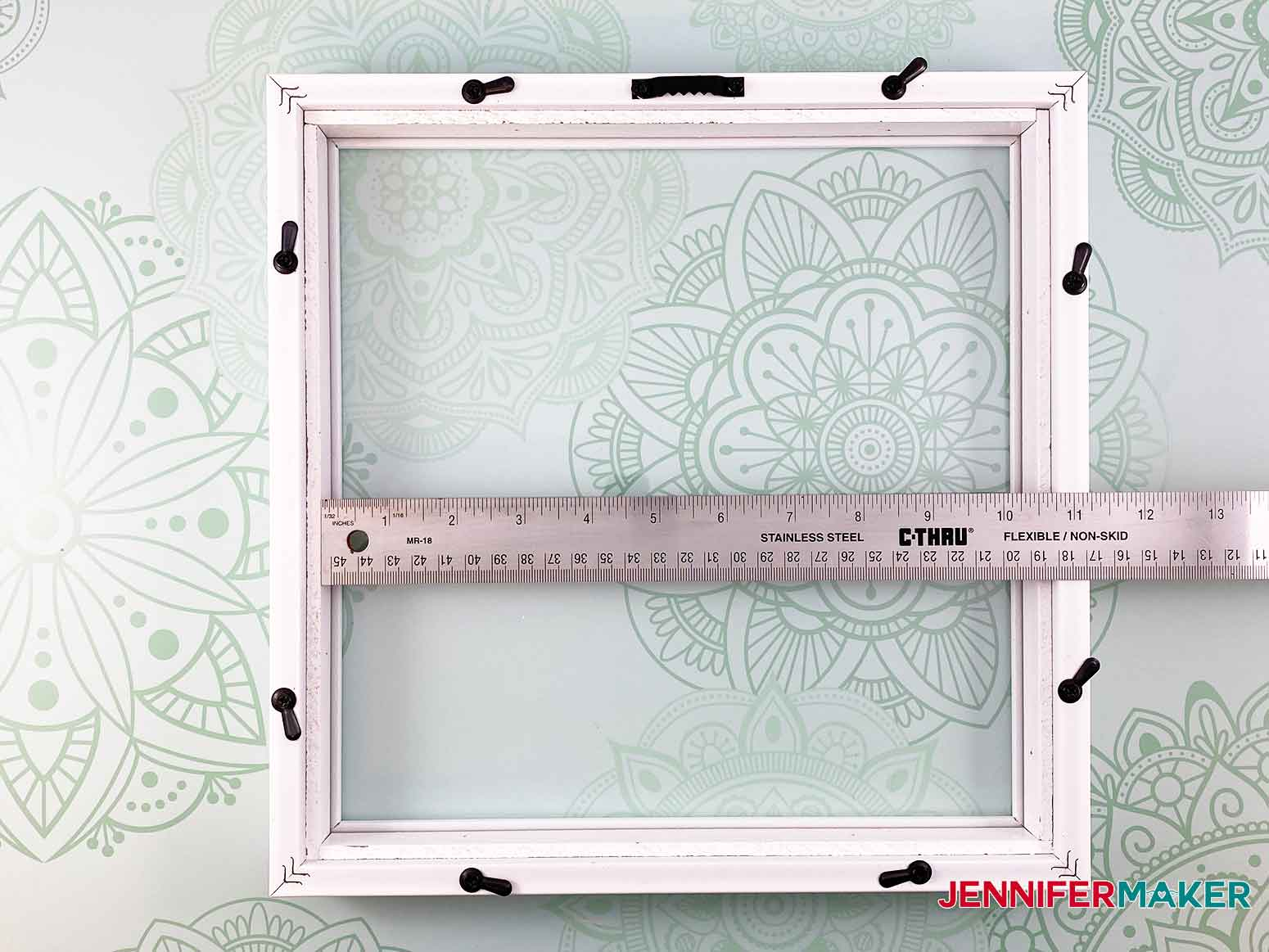 Measure the inside of your frame to make my 3d layered paper cut art flower