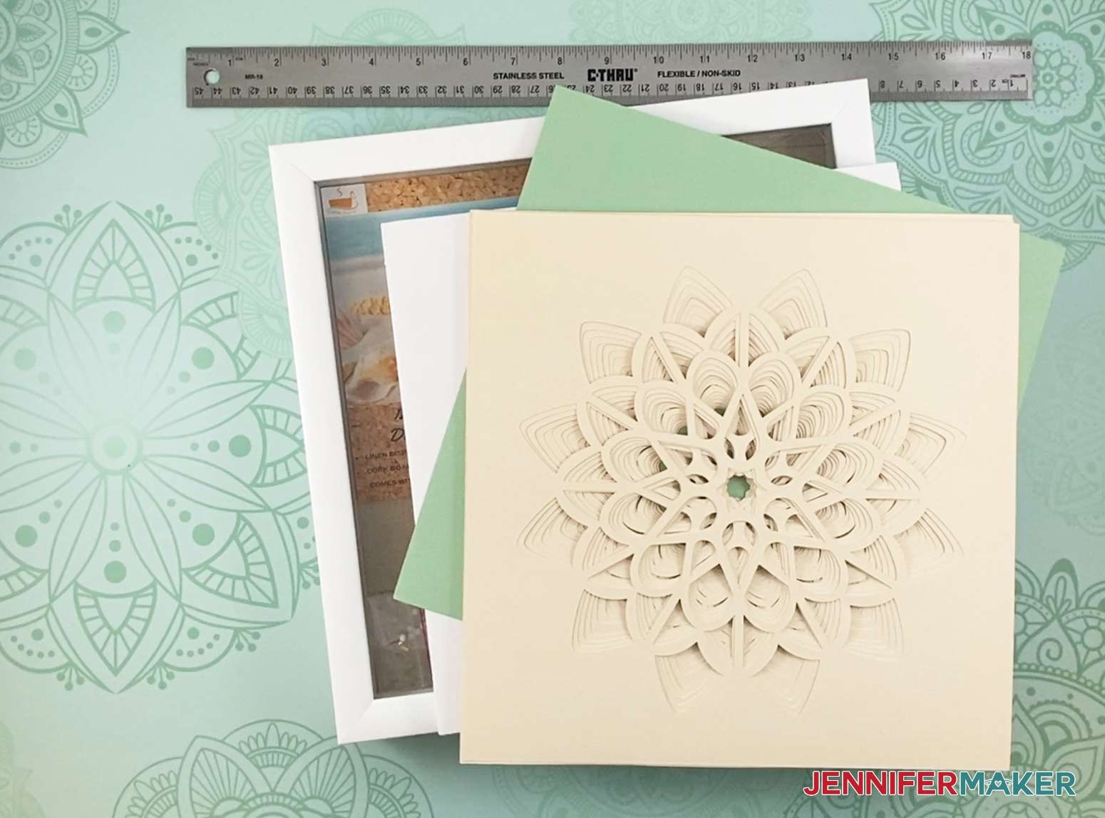 These are the supplies you will need to make my 3D layered paper cut art flower