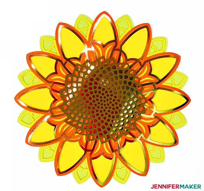 Sunflower 3D mandala made from paper