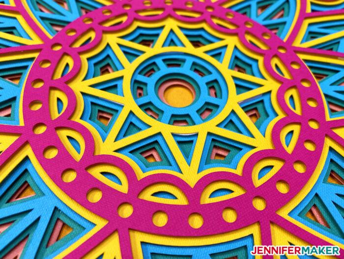 Detail of wheel mandala