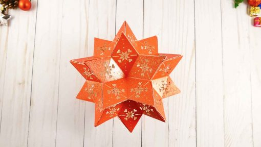 The finished 3d paper star (moravian star)