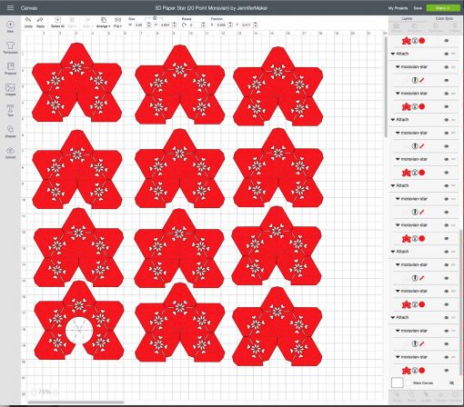Upload your 3D Paper Star to Cricut Design Space