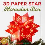 DIY 3D Paper Star: Moravian Star 20 Points | Christmas Tree Topper | #chrismtascrafts | free Cricut SVG cut files | how to make a moravian star