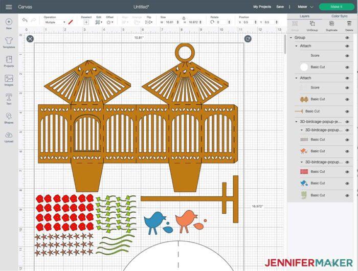 3D Pop-Up Birdcage in Cricut Design Space