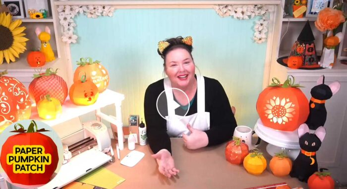 Make a 3D Paper Pumpkin Patch with JenniferMaker on Amazon Live