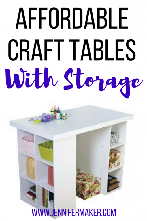 Need a new craft table! Here's my list of affordable craft tables with storage to organize all your craft supplies! | craft room organization