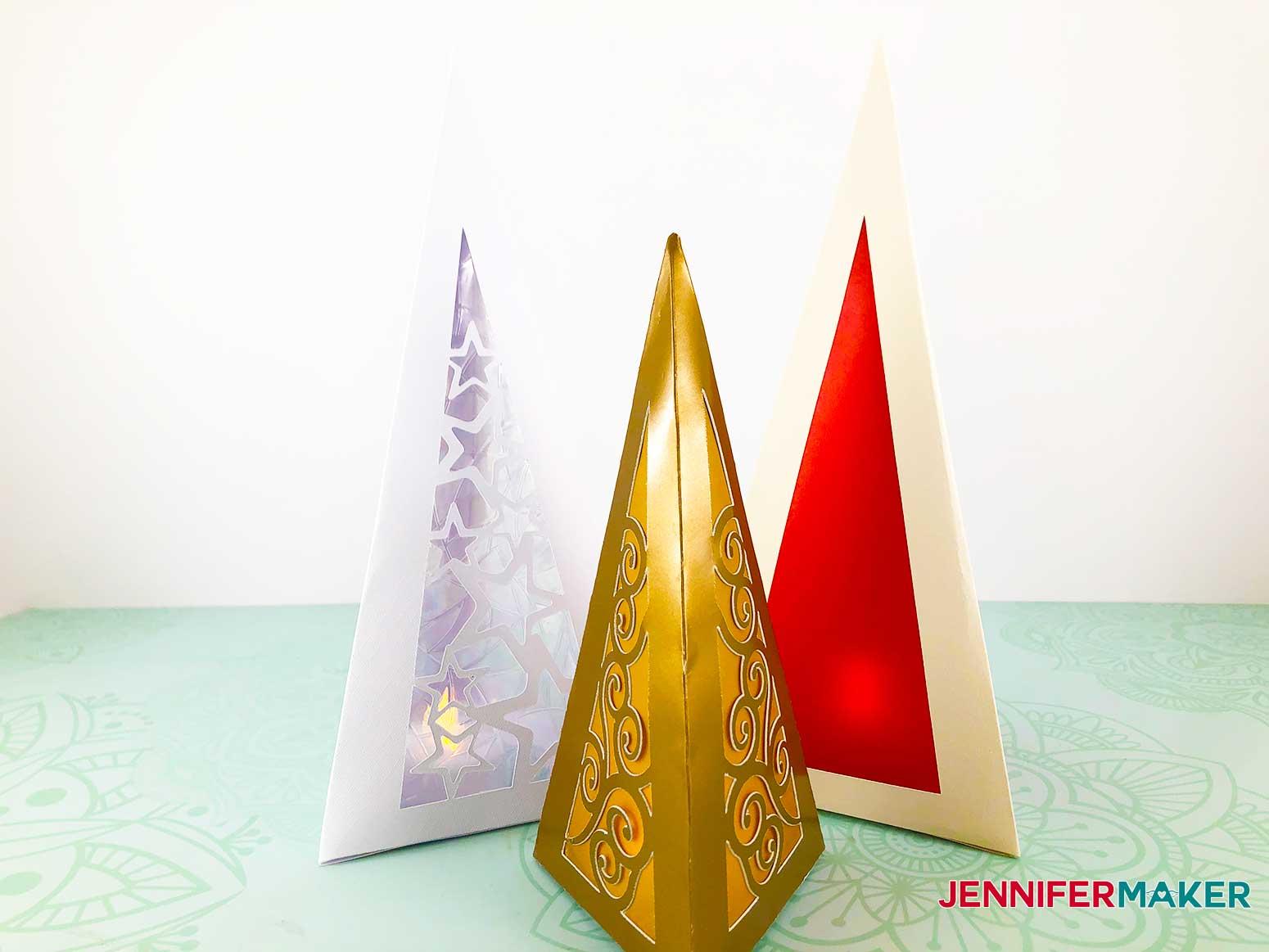 Christmas Tree Luminary assembled