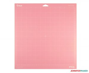 The pink FabricGrip Cricut Cutting Mat for fabric