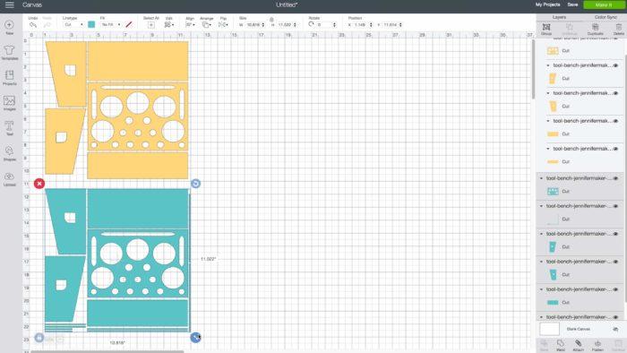 Cricut Tool Holder pattern uploaded to Cricut Design Space