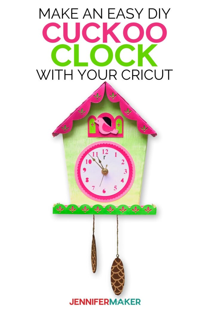 Make an easy DIY Wall Clock with a cuckoo using paper and your Cricut | Free SVG cut file #cricut #clock #papercraft