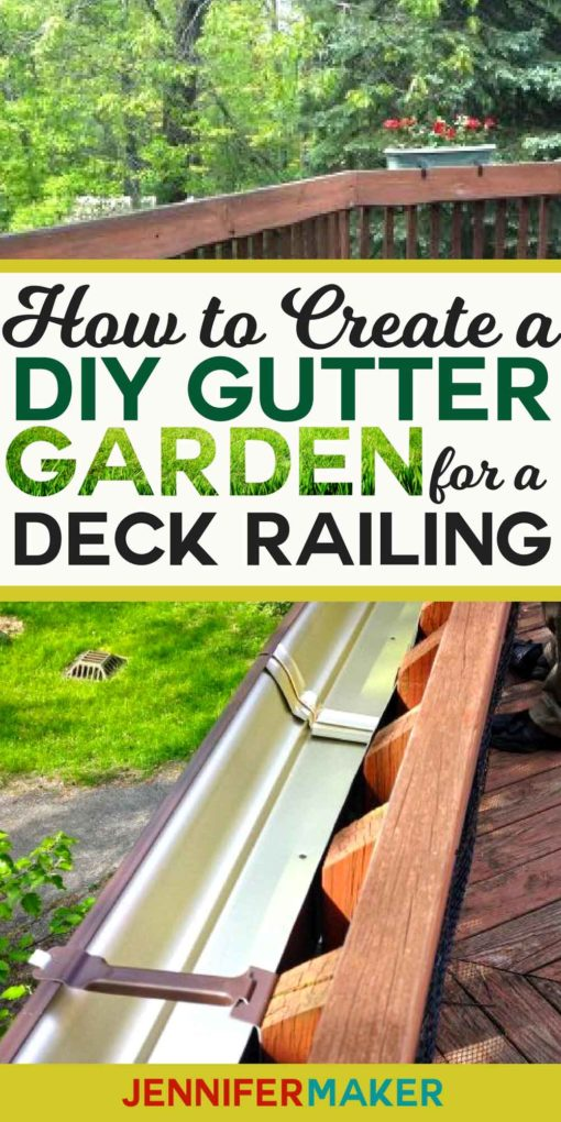 Hang a Rain Gutter Garden on your deck railing! #gardening #decks #diy