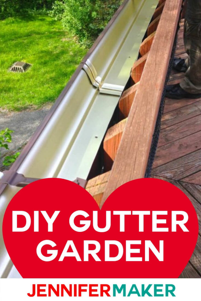 This DIY gutter garden is perfect for your desk railing. It will help you save space in your backyard while still being able to enjoy a garden. #diy #tutorial #garden