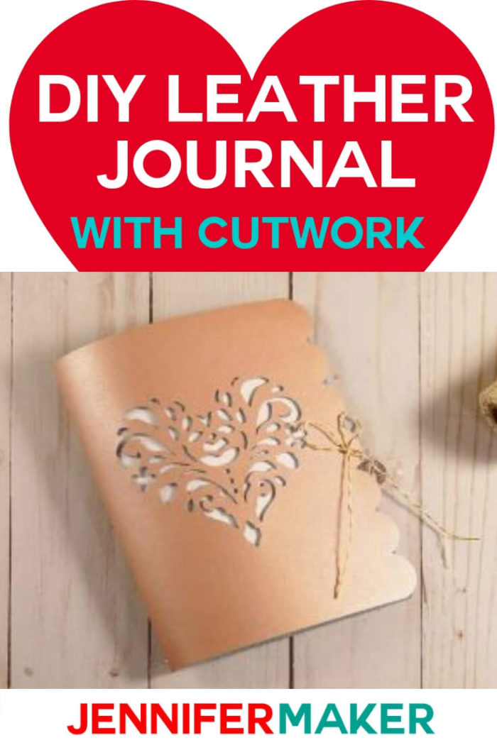 This DIY Leather Journal with Cut Work was created using a Cricut. You can find the cut file and tutorial on my website. #cricut #cricutmade #cricutmaker #cricutexplore #svg #svgfile
