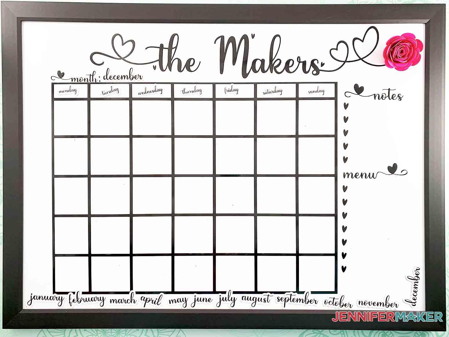 DIY-Whiteboard-Calendar-JenniferMaker-Covershot-with-paper-flower