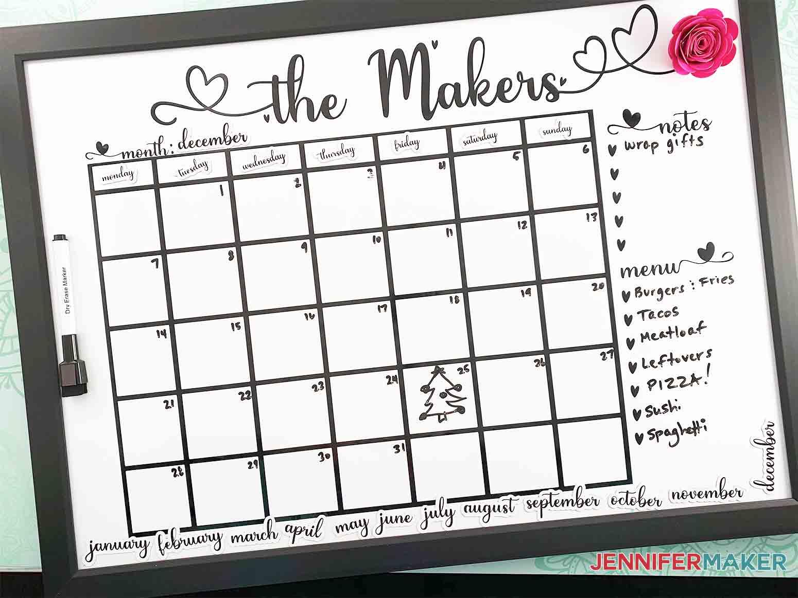 DIY-Whiteboard-Calendar-JenniferMaker-Covershot-with-writing