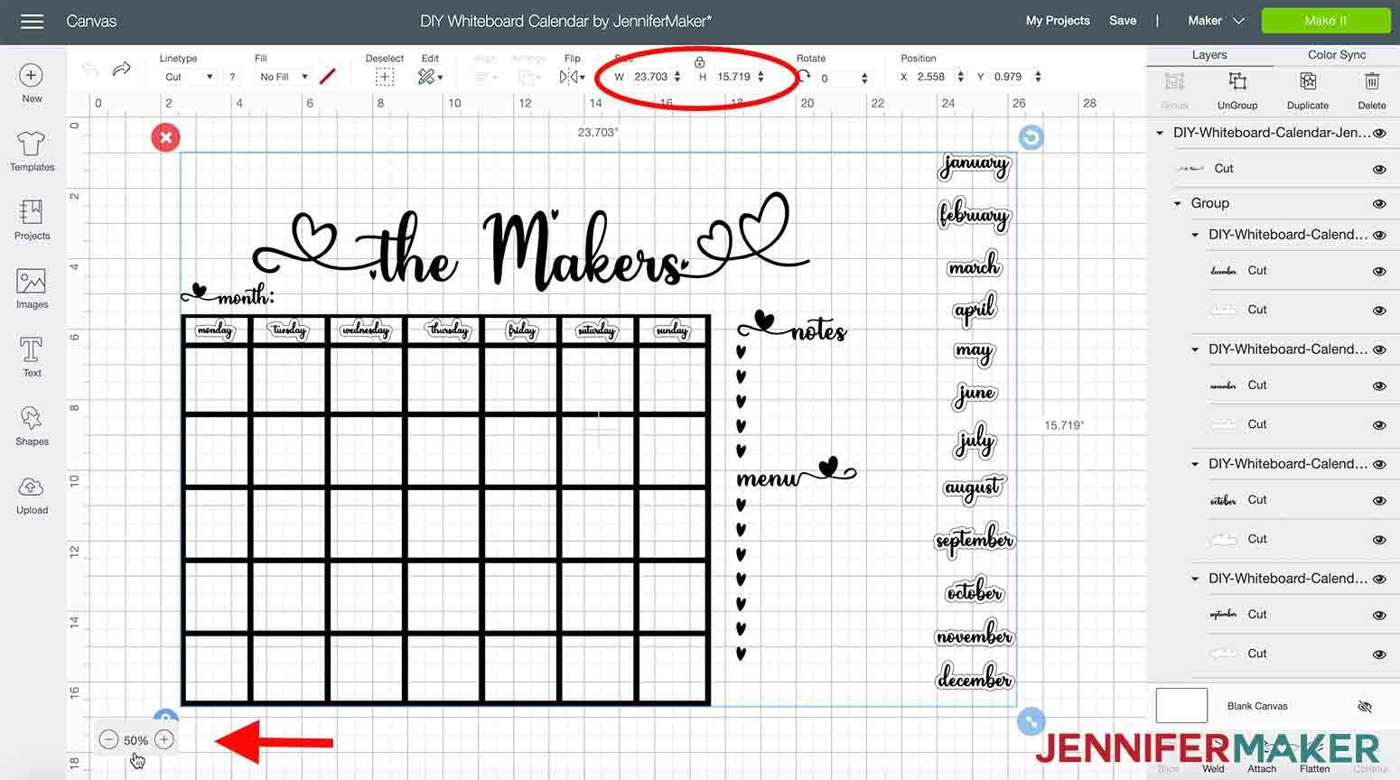 DIY-Whiteboard-Calendar-JenniferMaker-Design-Space