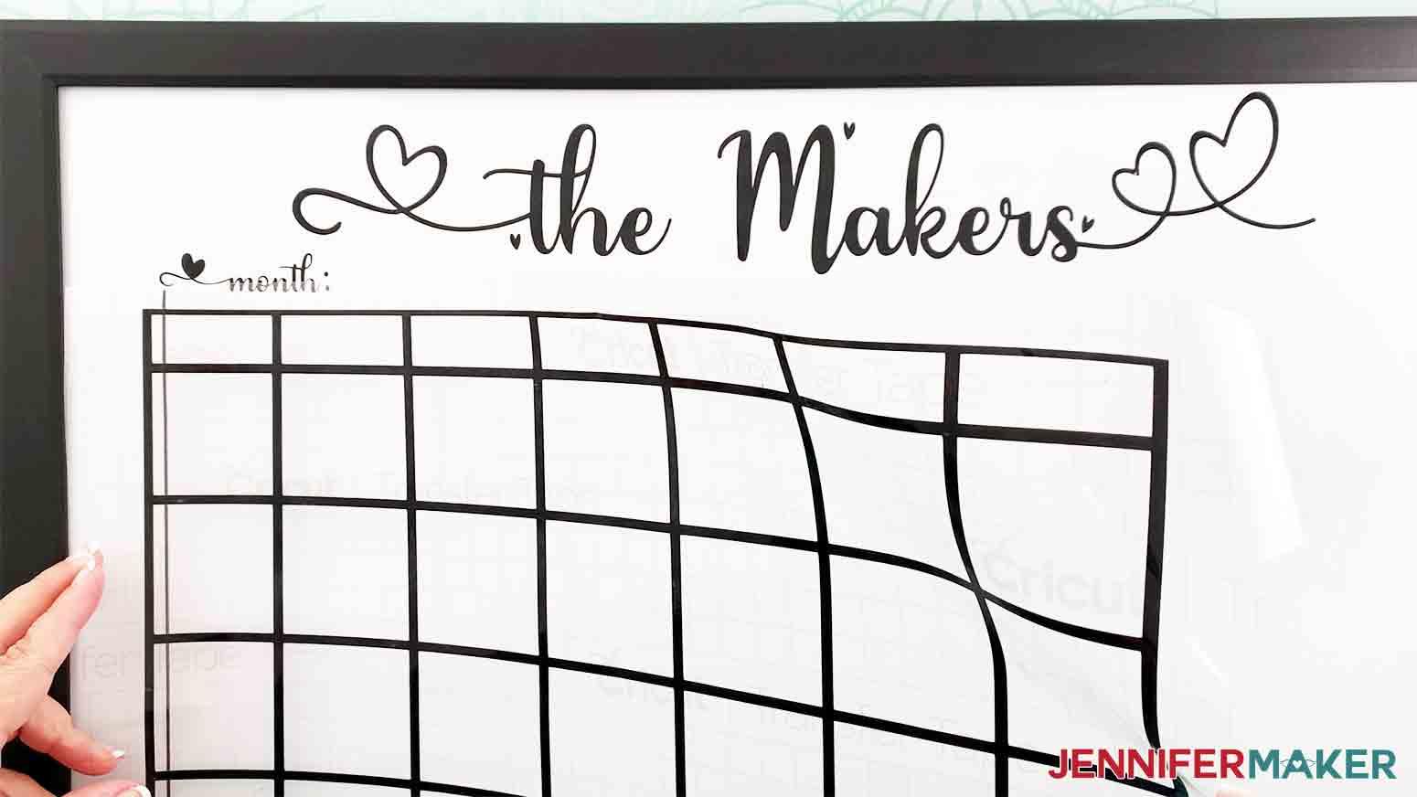 DIY-Whiteboard-Calendar-JenniferMaker-align-and-apply-calendar