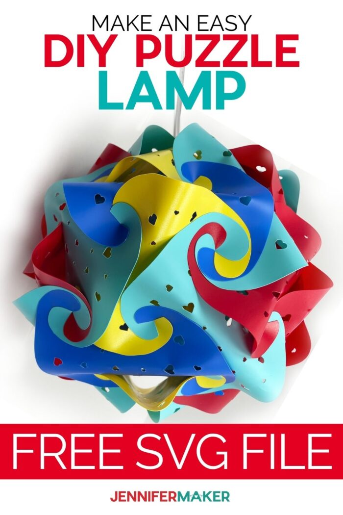 DIY Puzzle Lamp with three designs and SVG cut files #cricut #home decor