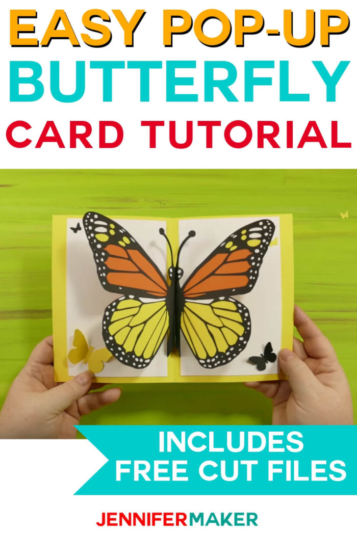 This Pop-Up Butterfly Card is easy to make with a full tutorial and free cut files. #cricut #cricutmade #papercrafting #cricutprojects