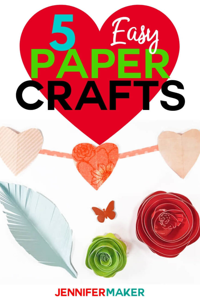 Are you looking for an easy paper craft project to complete? I have compiled a list of 5 projects that I believe a beginner or seasoned paper crafter can complete! #papercrafts #papercrafting #cricutprojects #diy #craftprojects