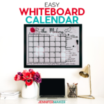 Learn how to personalize a Whiteboard Calendar to make it all your own