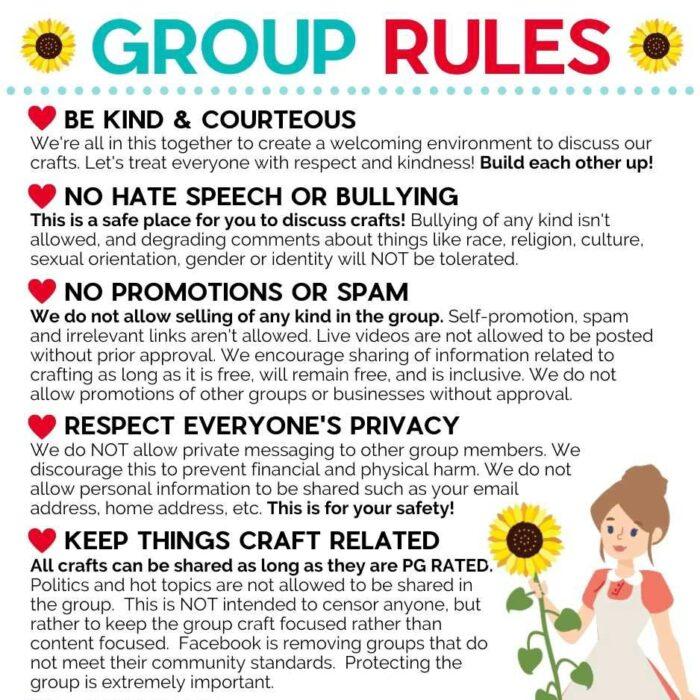 JenniferMaker Facebook Group Rules