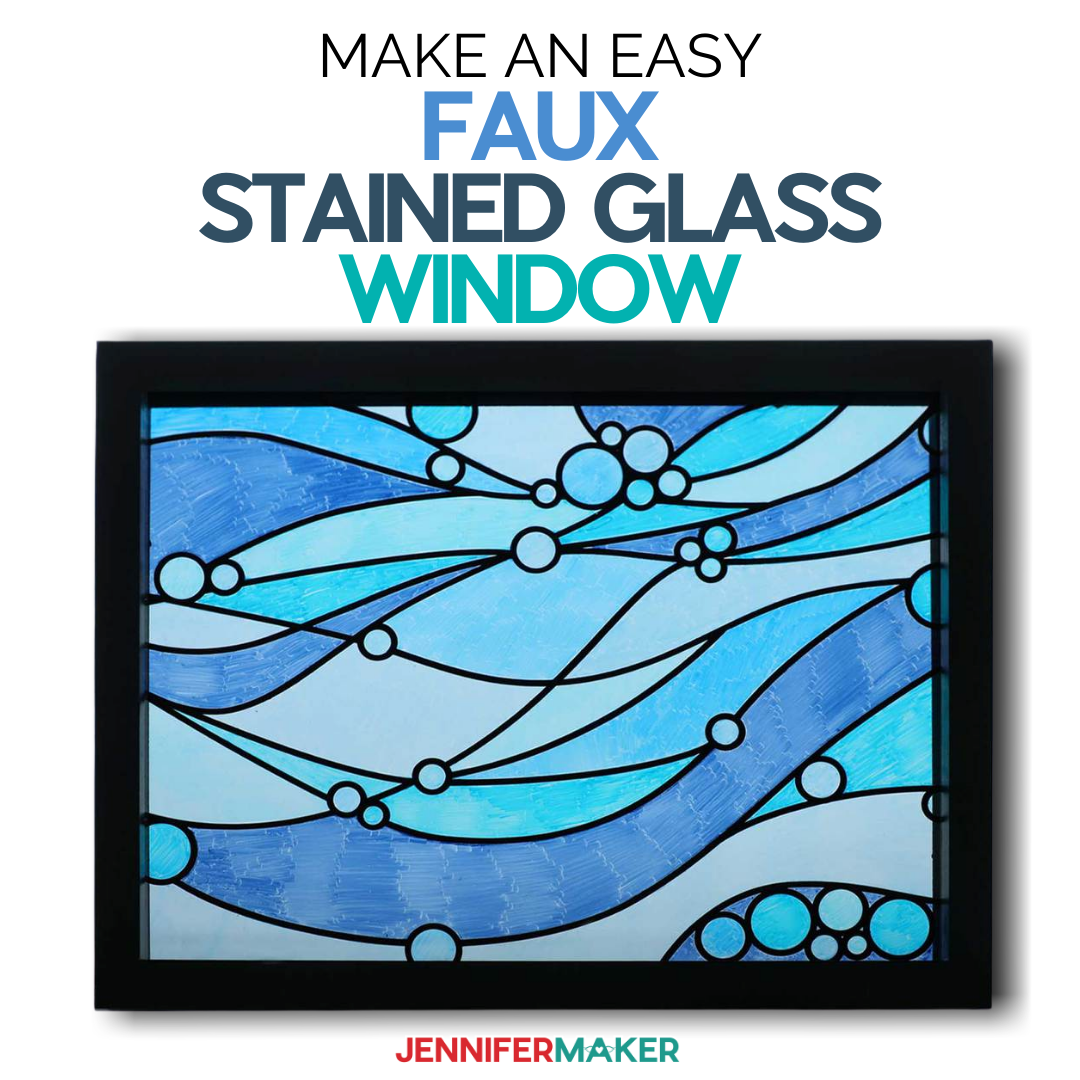Learn how to make a Faux Stained Glass window with my tutorial and free SVG