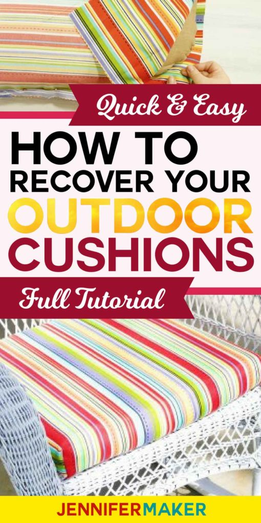 Recover Cushions for Outdoor Furniture Quickly and Easily #outdoorliving #cushions #homedecor #diy