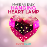 heart shaped hanging paper lantern with a light