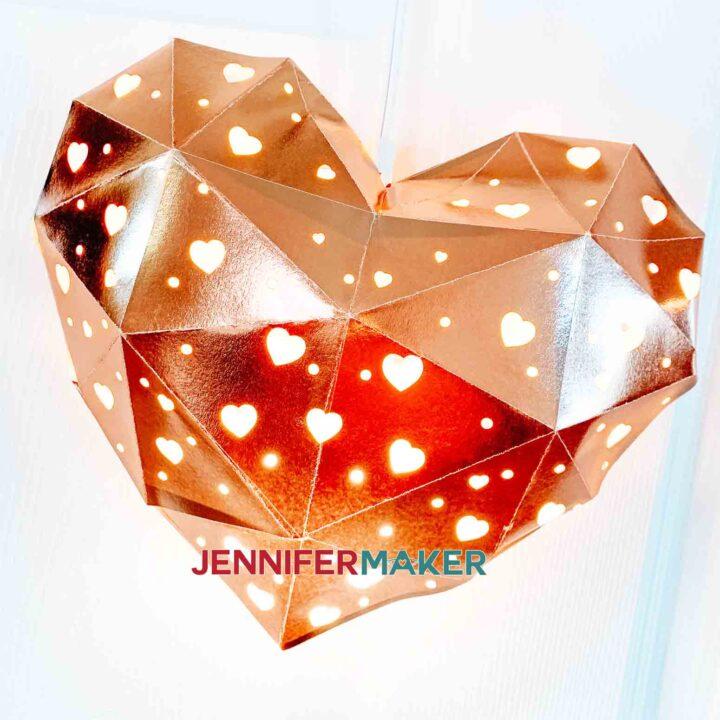 rose gold heart lantern jennifermaker
