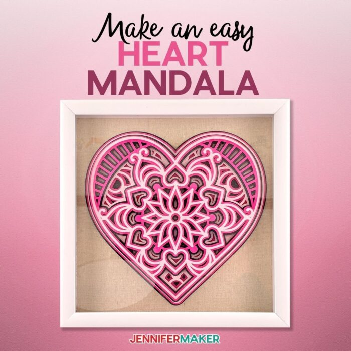 3D Layered Paper Heart Mandala made from Cardstock and - Free SVG Cut File - Cricut Valentine Ideas