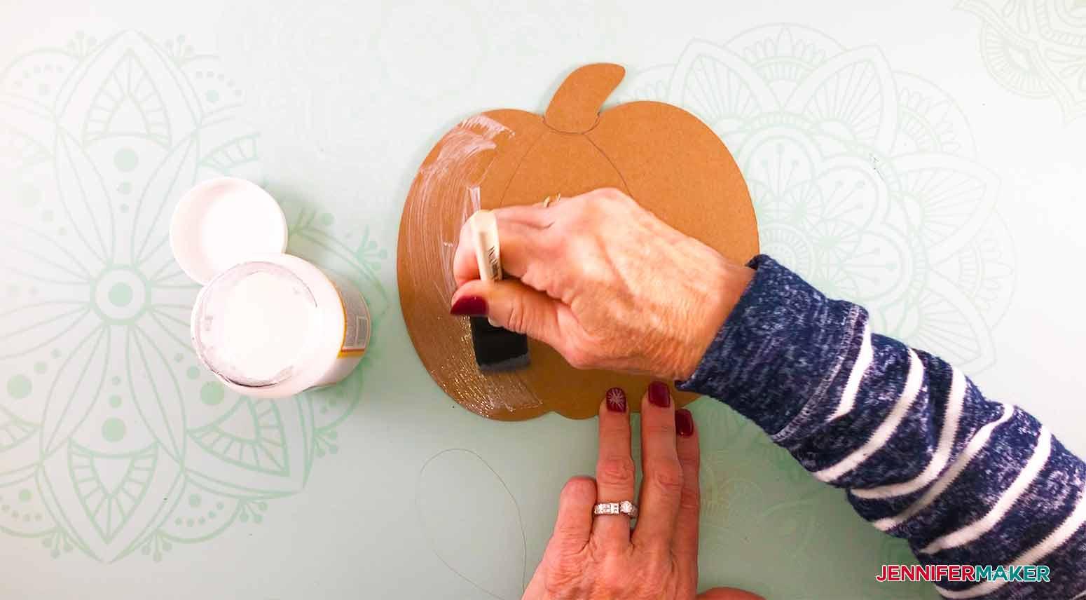 Home-Board-Jennifermaker-apply-mod-podge-to-shape
