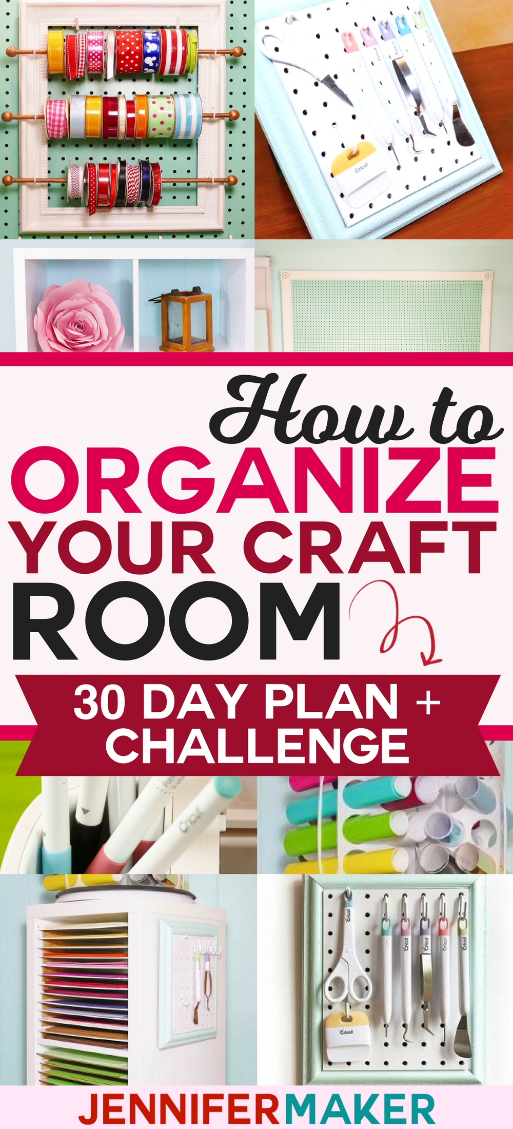 How to Organize Your Craft Room in 30 Days - Free Email Challenge, Tips, Tricks, and Tutorials!